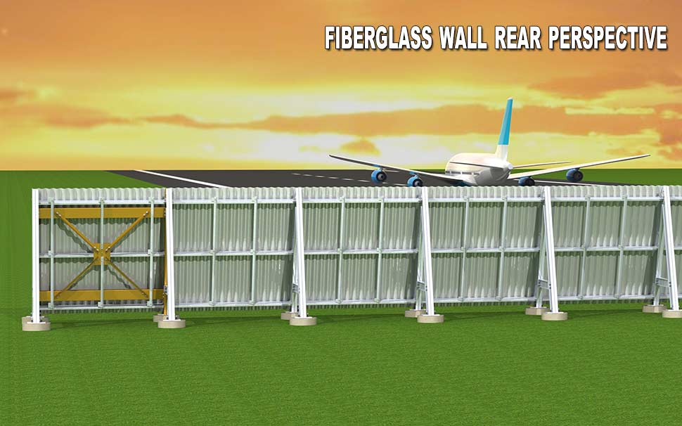 Fiberglass wall rear perspective
