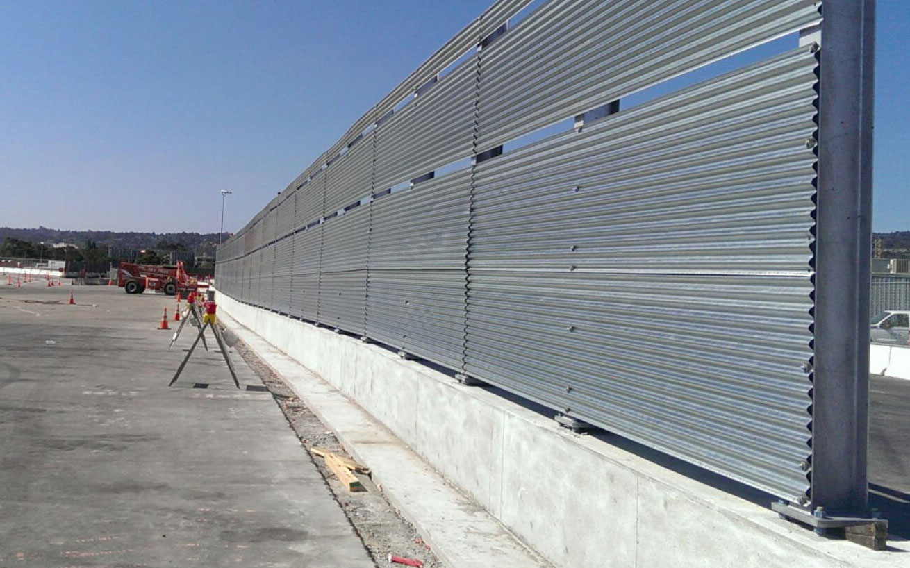 Completed in 2014, this Blastwall installation is made of steel.