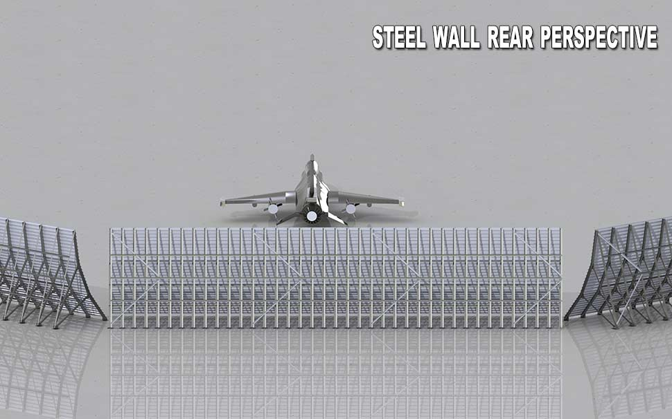 Steel wall rear perspective